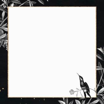 Lege glinsterende gouden frame vector
