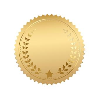 Lege gouden token vectorillustratie