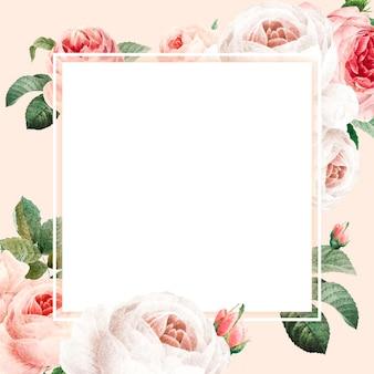 Lege gouden vierkante frame vector