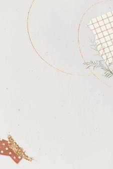 Lege grijze achtergrond sjabloon met washi tape vector