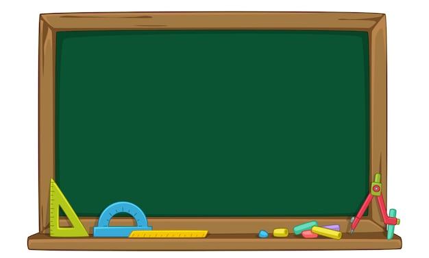Lege groene schoolbord vectorillustratie