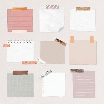 Lege herinnering papieren notities ingesteld