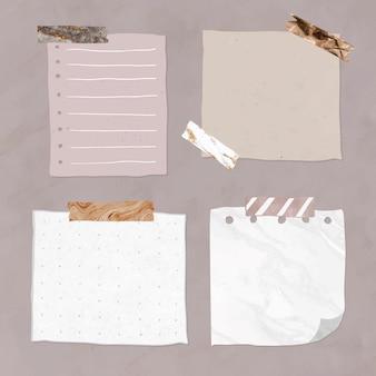 Lege herinnering papieren notities set