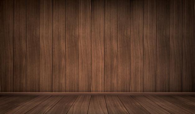 Lege houten kamer