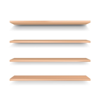 Lege houten plank geïsoleerd