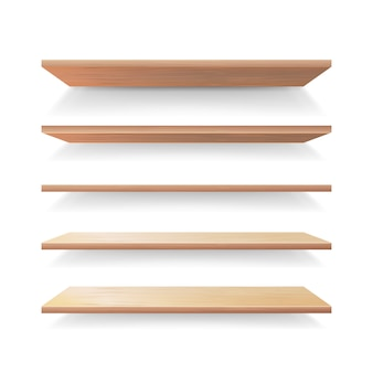 Lege houten planken