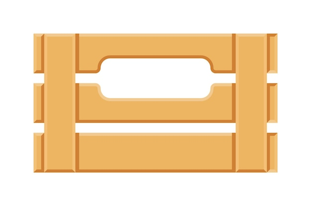 Lege houten plankkrat die op witte achtergrond wordt geïsoleerd