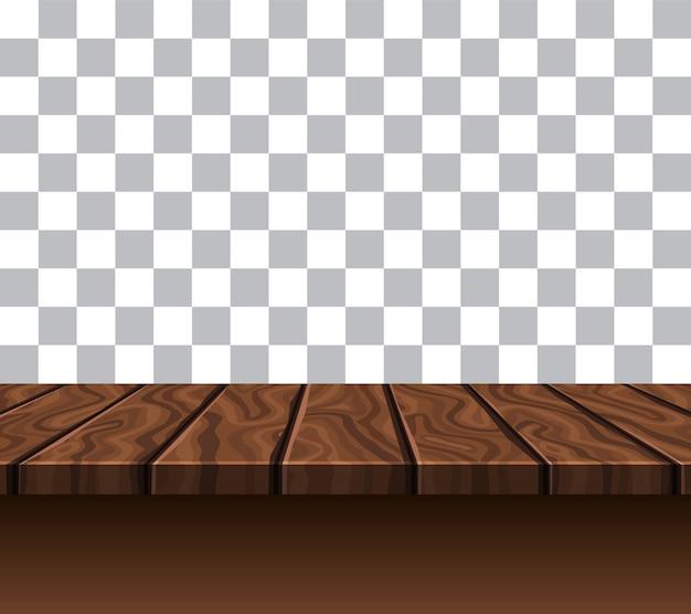 Lege houten tafelblad