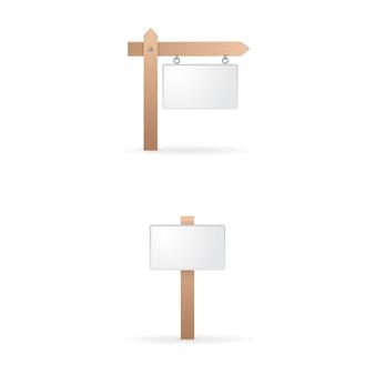 Lege houten teken collectie