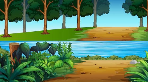 Lege illustratie natuur landschap