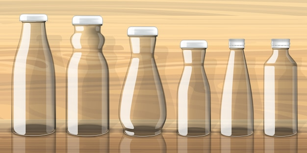 Lege juice-flessenmalplaatje