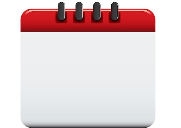Lege kalender geïsoleerde vectorillustratie