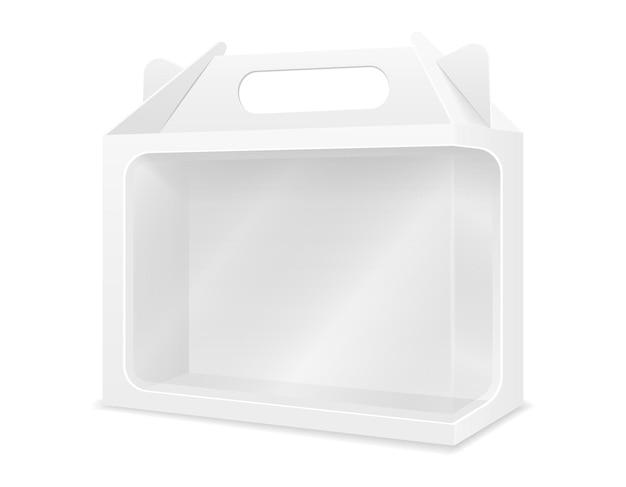 Lege kartonnen doos verpakking lege sjabloon