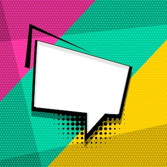 Lege komische tekst tekstballon gekleurde pop-art stijl geluidseffect zin
