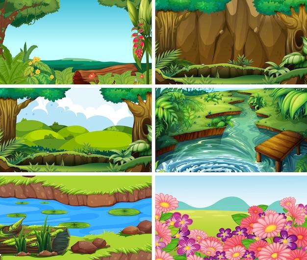 Lege, lege landschap natuur scène of achtergronden