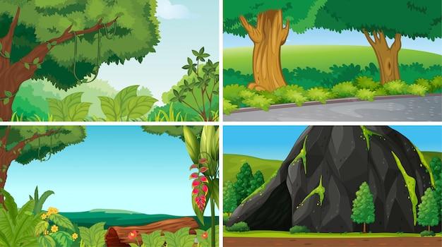 Lege, lege landschap natuur scènes of achtergrond