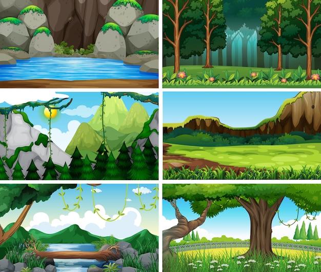 Lege, lege landschap natuur scènes of backgorund
