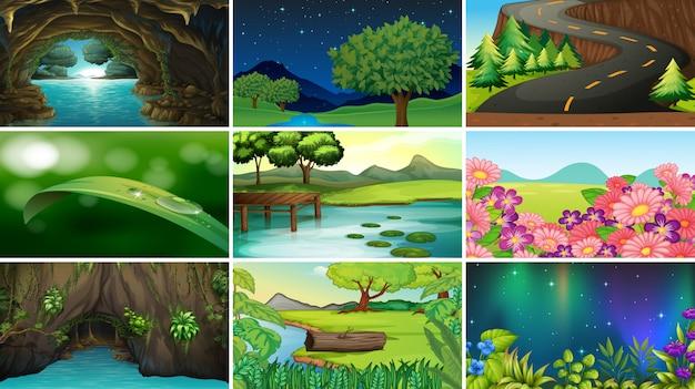 Lege, lege landschap natuur scènes
