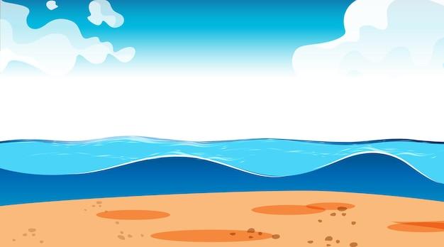 Lege lucht bij dagscène met leeg overstromingslandschap