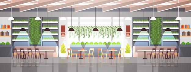 Lege moderne café interieur