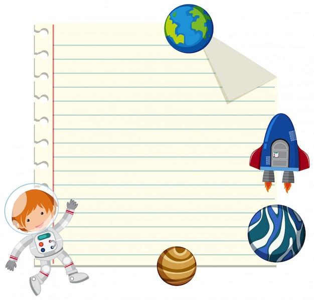 Lege notitie met ruimte-element