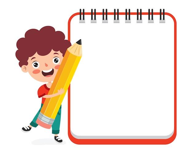Lege notitieblaadjes voor kinderen onderwijs