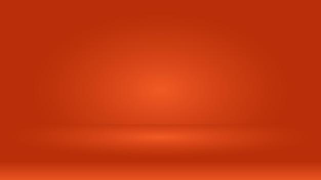 Lege oranje kleur studioscène voor productweergave leeg podium voor decoratief grafisch ontwerp