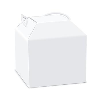 Lege pakketdoos met handvat: