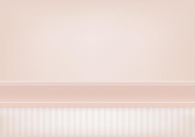 Lege pastelroze plank, bespotten voor weergave van product.