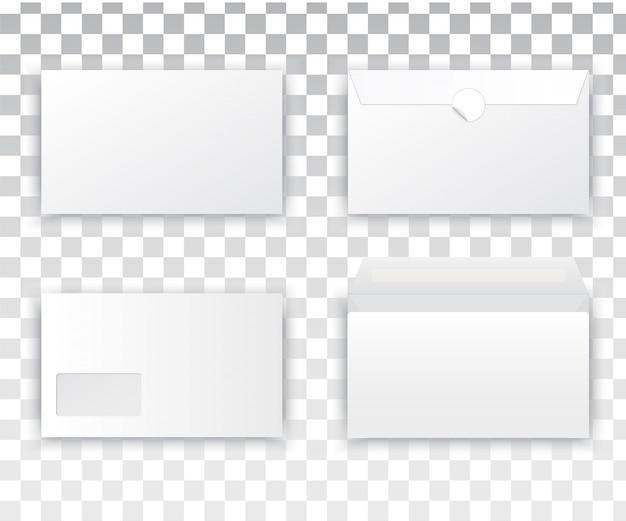Lege realistische envelop witte set