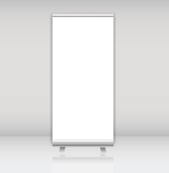 Lege roll-up banner display sjabloon voor ontwerpers vector illus