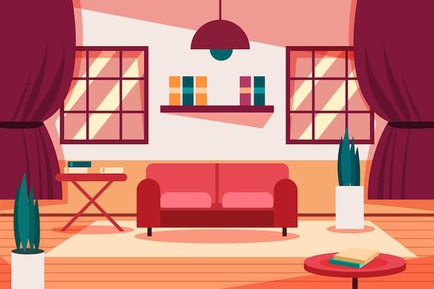 Lege ruimte achtergrond voor videoconferenties