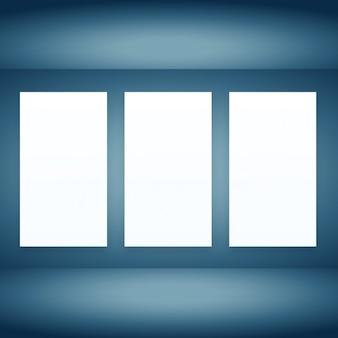 Lege ruimte met frames