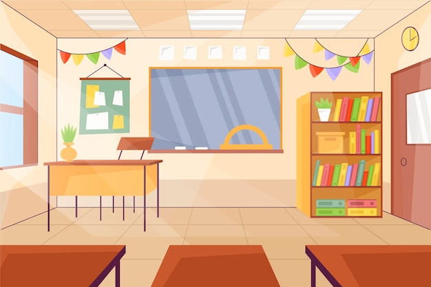 Lege school klas achtergrond voor videoconferenties