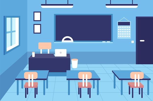 Lege schoolklas - achtergrond voor videoconferenties