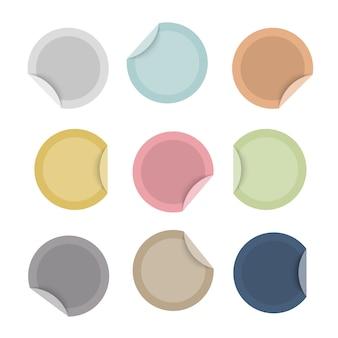 Lege speciale aanbieding kleurrijke stickers set