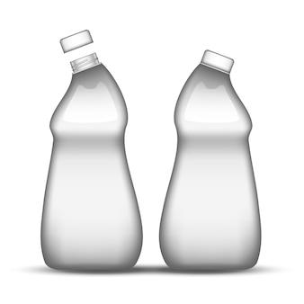 Lege spoelmachine schone plastic fles