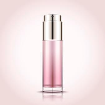 Lege spuitfles, cosmetische container mockup s in 3d illustratie