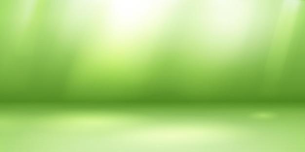 Lege studioachtergrond met zachte verlichting in groene kleuren