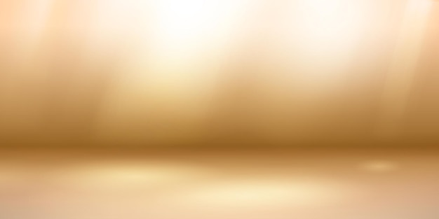 Lege studioachtergrond met zachte verlichting in lichtbruine kleuren