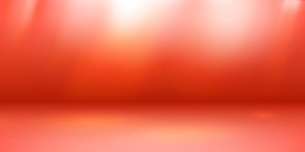 Lege studioachtergrond met zachte verlichting in rode kleuren