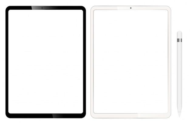Lege tablets of ipad. wordt geleverd met een pen voor ontwerp.