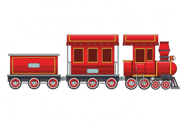 Lege treinwagon en cabine