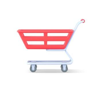 Lege trolley voor aankopen