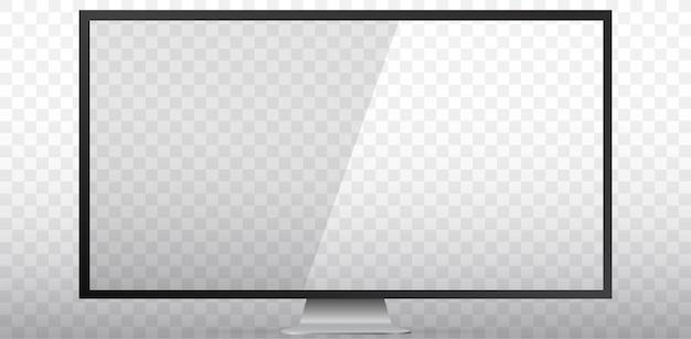 Lege tv-schermillustratie met transparant scherm en achtergrond