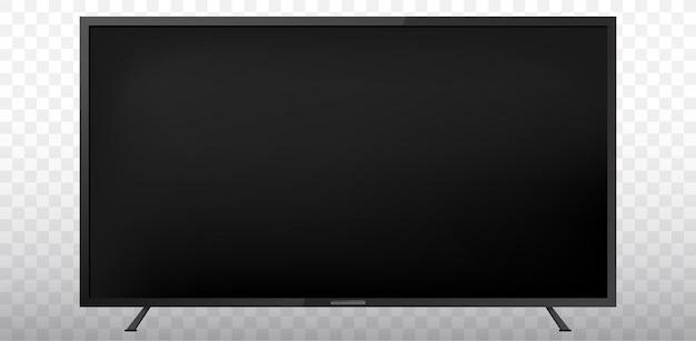 Lege tv-schermillustratie met transparante achtergrond