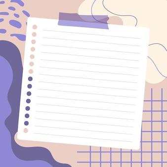 Lege vellen papier met een kleurrijke achtergrond, klaar voor uw bericht. illustratie