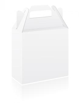 Lege verpakking vak vectorillustratie