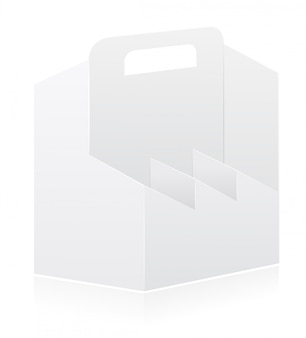 Lege verpakking vak voor fles vectorillustratie