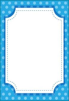 Lege verticale achthoek frame cartoon stijl sjabloon voor spandoek
